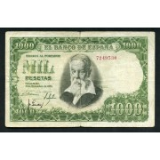 Billete 1000 Ptas  31/12/1951 Sin Serie