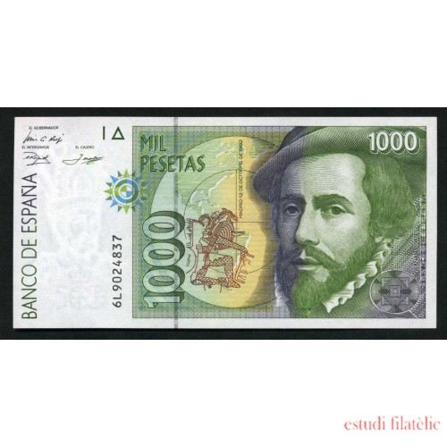 Billete 1000 Ptas 12-10-1992 Hernán Cortés