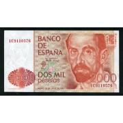 Billete 2000 Ptas 22-7-1980 J. Ramón Jimenez