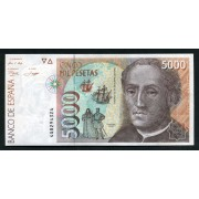 Billete 5000 12-10-1992  Colón