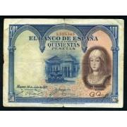 500 Ptas  24-7-1927 I.La Católica