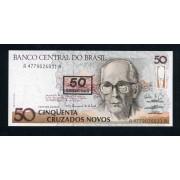 Brasil 50 Cruzeiros 1990 Billete Banknote Sin Circular