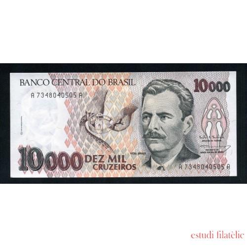 Brasil 10000 Cruzeiros 1991-93 Billete Banknote Sin Circular