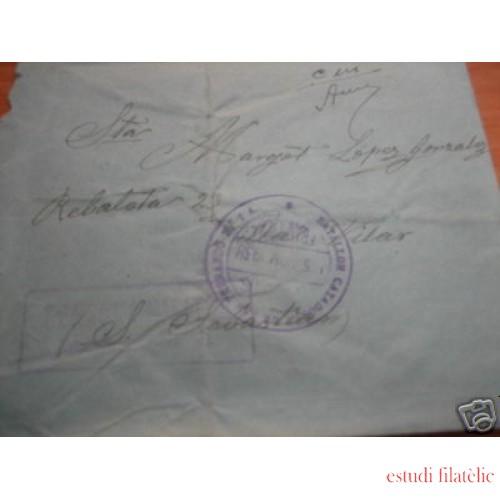 <div><strong>España Carta San Sebastián Batallón Cazadores San Fernando</strong></div>