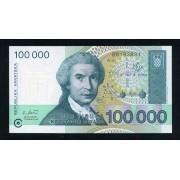 Billete P.27 Croacia 100000 Dinars 1993 SC