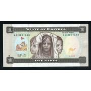 Billete P.1  Eritrea 1 Nakfa 1997 SC