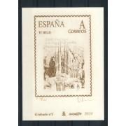 España Spain Grabado 3 Visita del Papa Prueba 100 Ejemplares Nº Rojo 2010