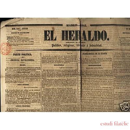 <div><strong>El Heraldo Marca Prefilatélica Manresa Cataluña 1842</strong></div>