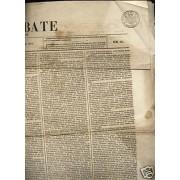 <div><strong>Timbre Periódicos Nº P 17 El Debate 1872 Entero</strong></div>