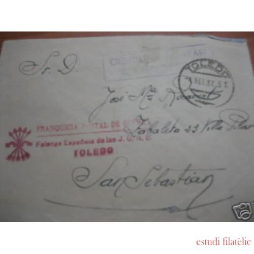 <div><strong>España Carta Toledo San Sebastián Franquicia JONS Guerra</strong></div>