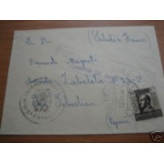 España Carta circulada Marruecos San Sebastián Sidi Alí MARCA CAMPAMENTO DEL JEMIS DE BENI  RARA