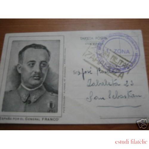 <div><strong>España Tarjeta Postal Zaragoza San Sebastián Franquicia</strong></div>
