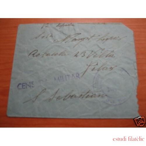 <div><strong>España Carta Mérida San Sebastián Franquicia Militar<br /> </strong></div>
