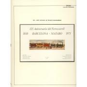España Spain Hojitas Recuerdo 16 1973 FNMT 125 Aniversario del Ferrocarril