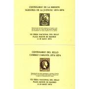 España Spain Hojitas Recuerdo 18/19 1974 FNMT Alegoría de la Justicia