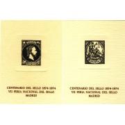 España Spain Hojitas Recuerdo 20/21 1974 FNMT VIIFeria del sello Alegoría de la Justicia