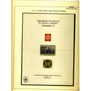 España Spain Hojitas Recuerdo 38 1975 FNMT Exposición Filatélica de España y América Espamer 75