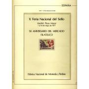 España Spain Hojitas Recuerdo 51 1977 FNMT 50º Aniversario del Mercado Filatélico
