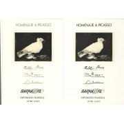 España Spain Hojitas Recuerdo 69/70 1978 FNMT Homenaje a Picasso Barnafil 78