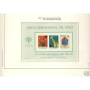España Spain Hojitas Recuerdo 76 1979 FNMT Año Internacional del niño