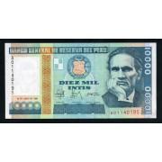 Billete P.141 Perú 10.000 Intis 1988 SC