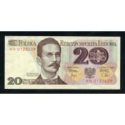 Billete P.149 Polonia 20 Zlotych 1992 SC
