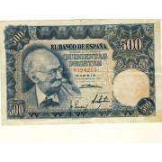 Billete 500 PTAS MADRID 19-11-1951 SIN SERIE