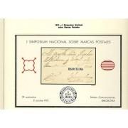 España Spain Hojitas Recuerdo 12 1973 FNMT Simposio