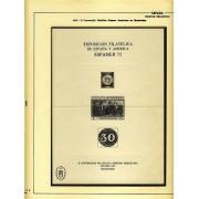 España Spain Hojitas Recuerdo 39 1975 FNMT Exposición Filatélica de España y América Espamer 75 Tirada: 366