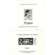 España Spain Hojitas Recuerdo 42/43 1976  Plaza Mayor de Madrid Picasso Tirada 800