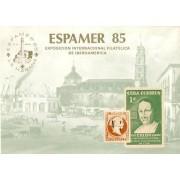 España Spain Hojitas Recuerdo 116 1985 FNMT Espamer 85 Colón Caballo Horse
