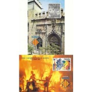 España Spain Hojitas Recuerdo 131/32 1995 FNMT  Valencia 95 Fallas