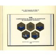 España Spain Hojitas Recuerdo 24 1974 FNMT Campeonato del Mundo de Tetrathlon Tirada: 500