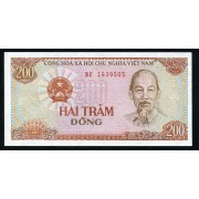 Billete P.100 Vietnam 200 Dông 1987 SC