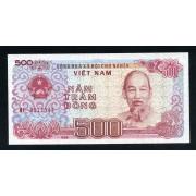 Billete P.101 Vietnam 500 Dông 1988 SC