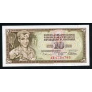 Billete P.87 Yugoslavia 10 Dinara 1978 SC