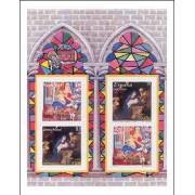 España Spain HB Emisión conjunta 2001 Alemania-España Navidad MNH