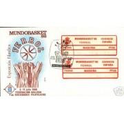 <div><strong>Etiqueta Postal Conmemorativa N</strong><strong>º 4 a/b Mundobasket 86 en sobre<br /> </strong></div>