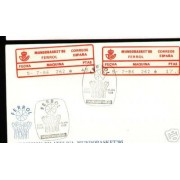 <div><strong>Etiqueta Postal Conmemorativa N</strong><strong>º 4 c/d Mundobasket 86 en sobre<br /> </strong></div>