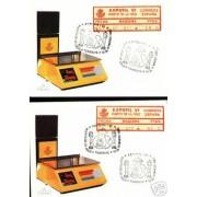 <div><strong>Etiqueta Postal Conmemorativa N</strong><strong>º 7 a/b Expofil VI en tarjeta<br /> </strong></div>