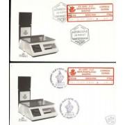 <div><strong>Etiqueta Postal Conmemorativa N</strong><strong>º 8 a/b XII Certamen Filatélico en sobre<br /> </strong></div>