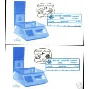 <div><strong>ATMs Etiqueta Postal Conmemorativa N</strong><strong>º 22a/b Aviación y Espacio </strong><strong>en sobre </strong></div>
