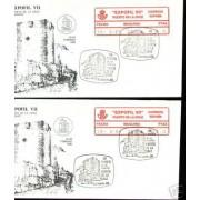 <div><strong>ATMs Etiqueta Postal Conmemorativa N</strong><strong>º 12a/b Expofil VII </strong><strong>en sobre </strong></div>