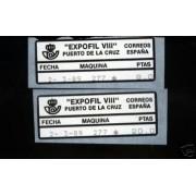 <div><strong>ATMs Etiquetas Postales Conmemorativas N</strong><strong>º 18a/b Expofil VIII</strong></div>
