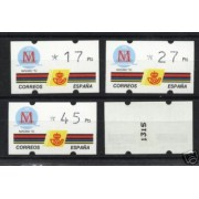 <div><strong>ATMs Kl&uuml;ssendorf Madrid 92 3 dígitos 4 valores Año 1992 con número<br /> </strong></div>