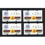 <div><strong>ATMs Kl&uuml;ssendorf Madrid 92 3 dígitos 4 valores Año 1995 con número<br /> </strong></div>