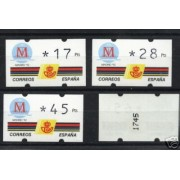 <div><strong>ATMs Kl&uuml;ssendorf Madrid 92 3 dígitos 4 valores Año 1993 con número<br />  </strong></div>