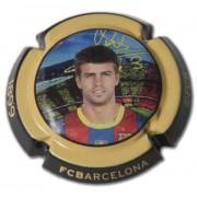 Placas de cava FC Barcelona Temporada 2010/2011  Colección 18 chapas placas de Cava Oficiales de los jugadores
