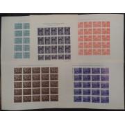 España Spain Beneficencia 29s/33s 1938 Hojas completas de 25 sellos Velazquez