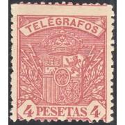 España Spain Telégrafos 37 1901 Escudo de España Coat of Spain MH
